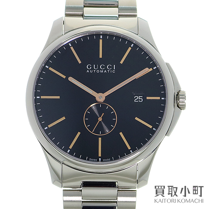 099dd2b5bbd Watch 126.3 YA126312 G-TIMELESS WATCH AT for the Gucci G thyme wrestler JIS  rim automatic men watch 40mm black Diamante pattern dial stainless steel SS  ...