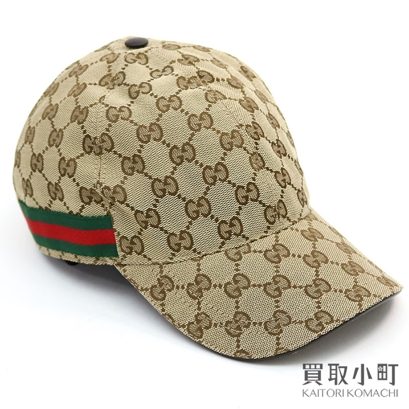 80a18d9fbbd9fc KAITORIKOMACHI: Gucci original GG canvas baseball cap large size beige X  dark brown leather Web hat men gap Dis 200035 KQWBG 9791 GG CANVAS BASE |  Rakuten ...