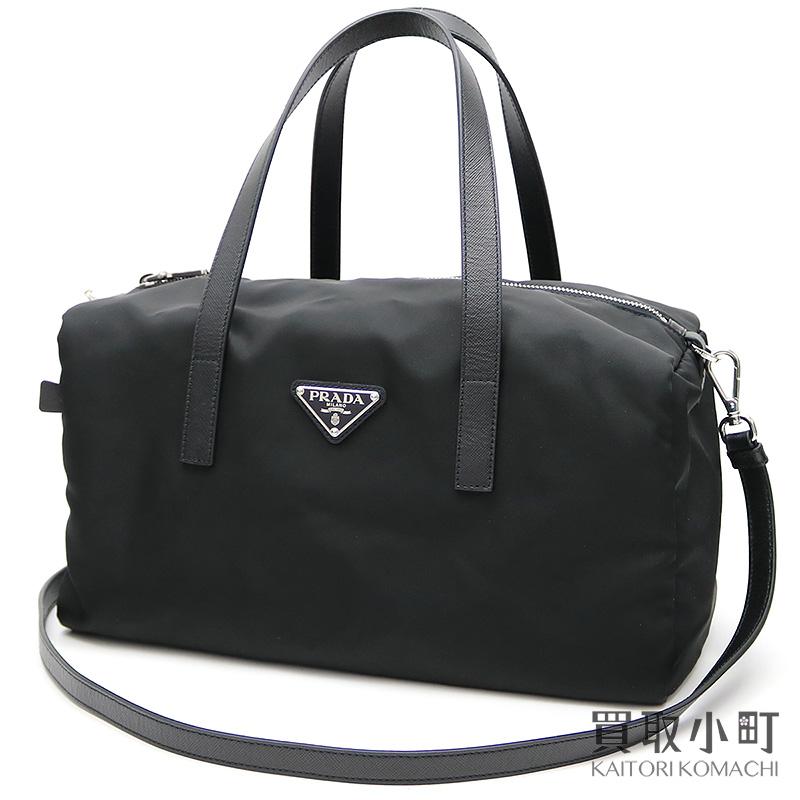 810ce1fa4a69 KAITORIKOMACHI: Take プラダテスートミニボシトンバッグトライアングルロゴブラックナイロン 2WAY shoulder bag  handbag slant; BL0567 064 F0002 TESSUTO SAFFIANO ...