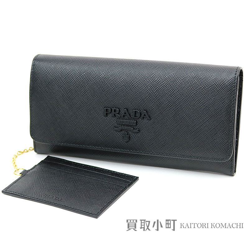 263d417e42ee KAITORIKOMACHI: Card case wallet logo 1MH132 2EBW F0002 SAFFIANO SHINE NERO  Z with the プラダサフィアーノウォレットブラックカーフスキン folio long wallet ...