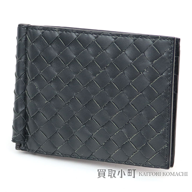 3c146b3303e Folio wallet dark gray calfskin compact wallet wallet 123180 V4651 BV  INTRECCIATO WALLET with the ボッテガヴェネタイントレチャート VN ...