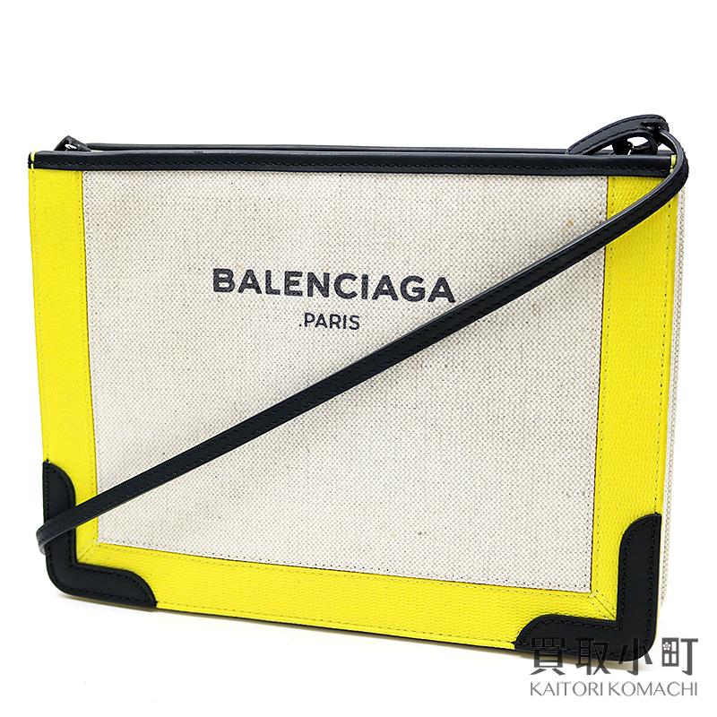 07cd54bfee KAITORIKOMACHI: バレンシアガネイビーポシェットナチュラル X yellow X ...