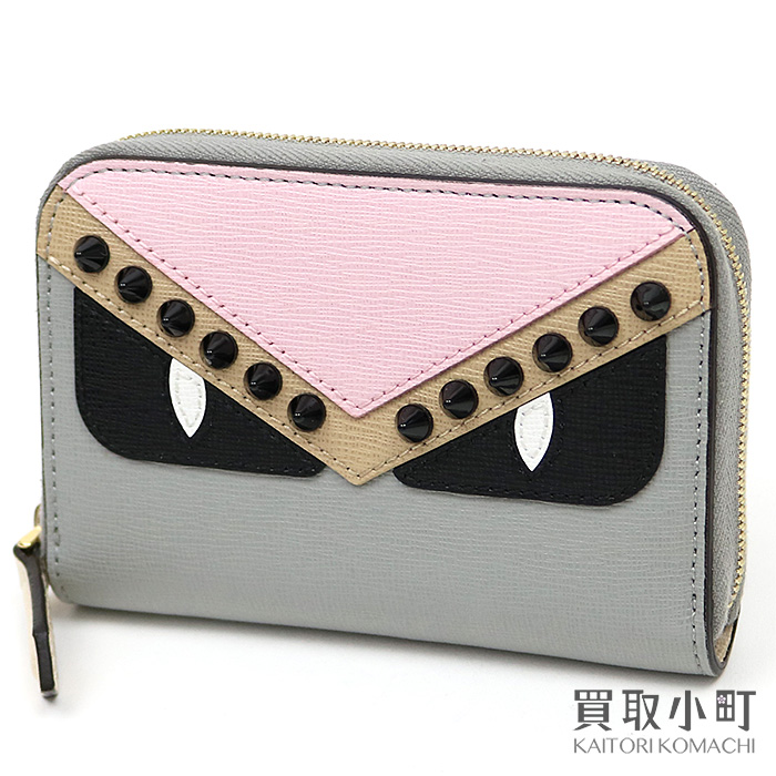 d27f30c6881c KAITORIKOMACHI  Fendi bugs monster crayon mini-zip around wallet ...