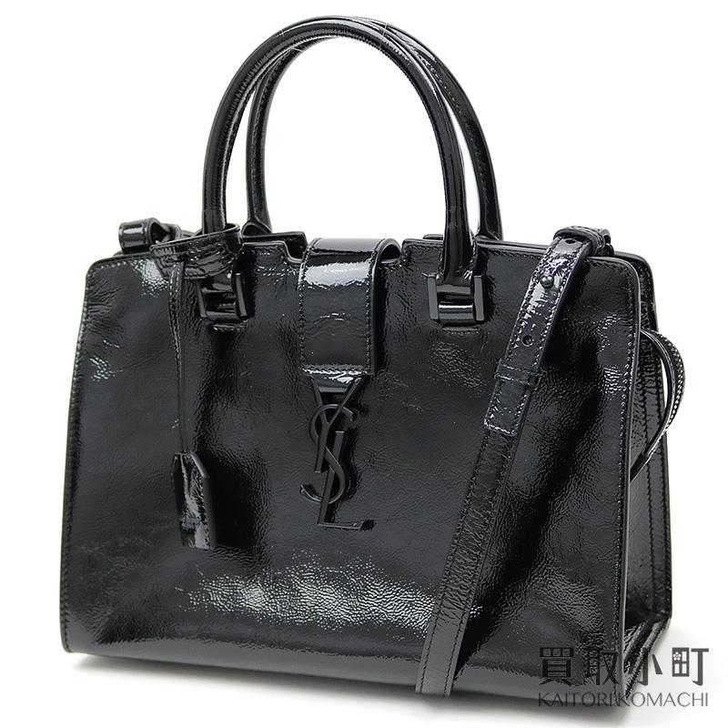 44c21d08ad KAITORIKOMACHI: Saint-Laurent monogram Saint-Laurent baby hippopotamuses  black patent leather YSL line 2WAY shoulder tote bag 424868 AB80U 1000  MONOGRAMME ...