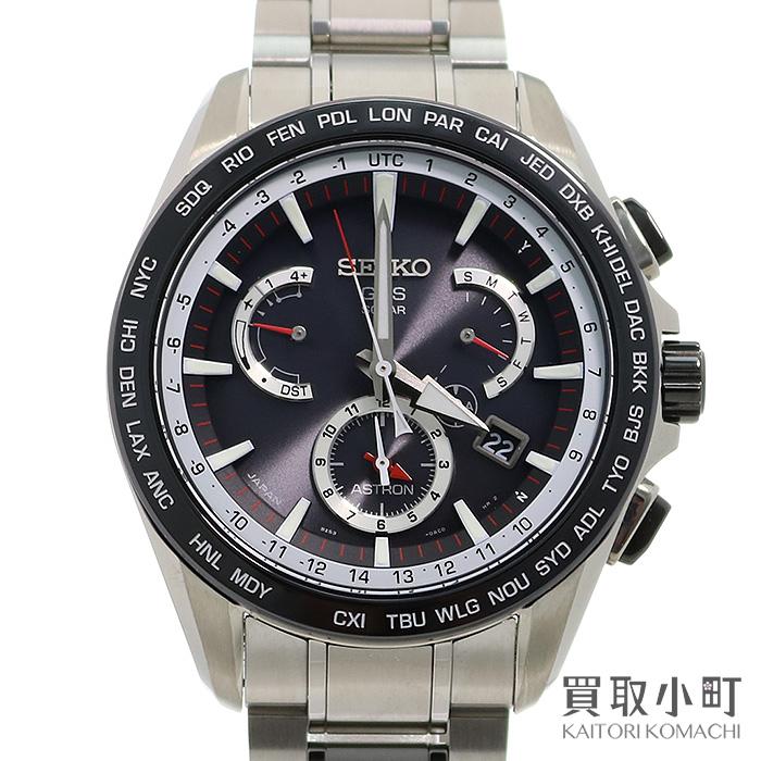 【美品】セイコー【SEIKO】アストロン 8Xシリーズ デュアルタイム GPSソーラーウォッチ ブラック ステンレス SSブレス メンズ 男性用腕時計 SBXB051 8X53-0AD0-2 ASTRON 8X Series Dual time GPS Solar Watch【Aランク】【中古】
