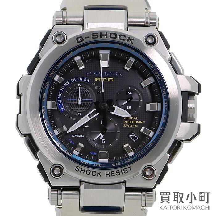 カシオ【CASIO G-SHOCK】MT-G Gショック GPSハイブリッド電波ソーラー時計 メタルブレス メンズウォッチ 腕時計 MTG-G1000D-1A2JF WATCH【ABランク】【中古】