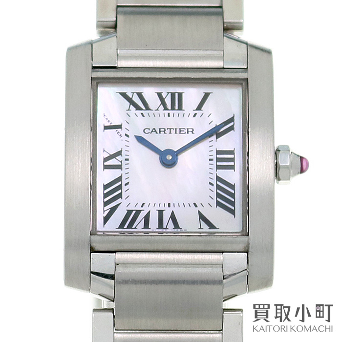Watch W51028q3 Tank Francaise Small Model Ss Mop For The カルティエタンクフランセーズ Sm Pink Shell Lady S Bracelet Quartz Woman