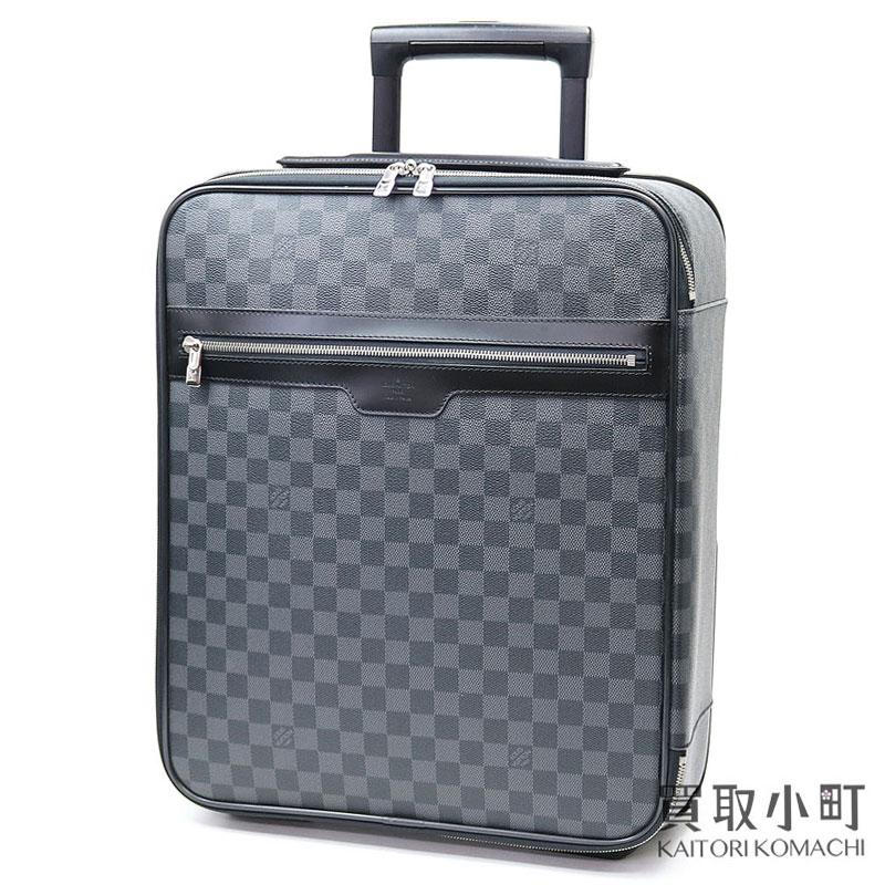 【美品】ルイヴィトン【LOUIS VUITTON】 N23302 ペガス45 ダミエグラフィット キャリーケース トローリー キャスター付き旅行鞄 スーツケース トラベル コロコロカート LV Pegase 45 Damier Graphite Travel Rolling Luggage【Aランク】【中古】