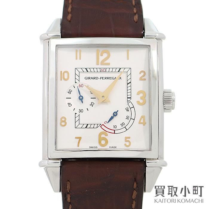 ジラールペルゴ 【GIRARD-PERREGAUX】 ヴィンテージ1945 パワーリザーブ クラシック メンズウォッチ オートマティック スモールセコンド アリゲーター 革ベルト 自動巻き 男性用腕時計 Ref.25850 Vintage 1945 Watch【ABランク】【中古】