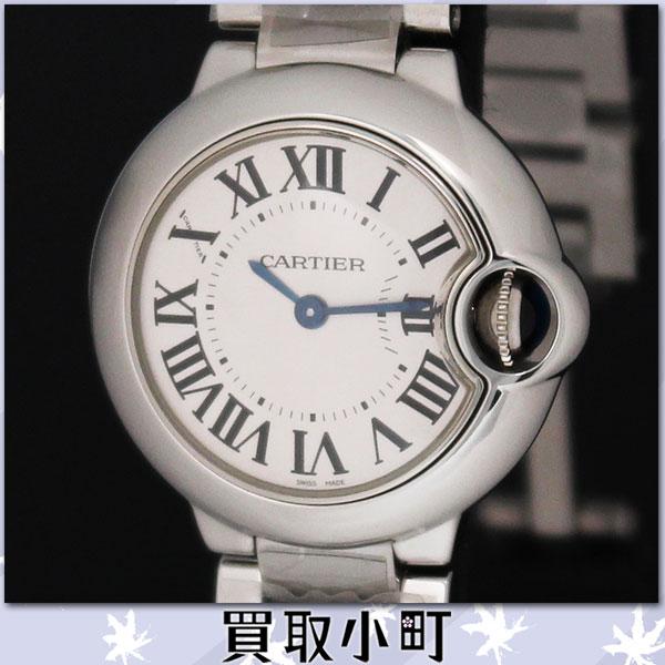 供karutiebaromburudukarutieredisuuotchi SM 28MM石英女性使用的手表银子号码盘BallonBleu SS W69010Z4%OFF