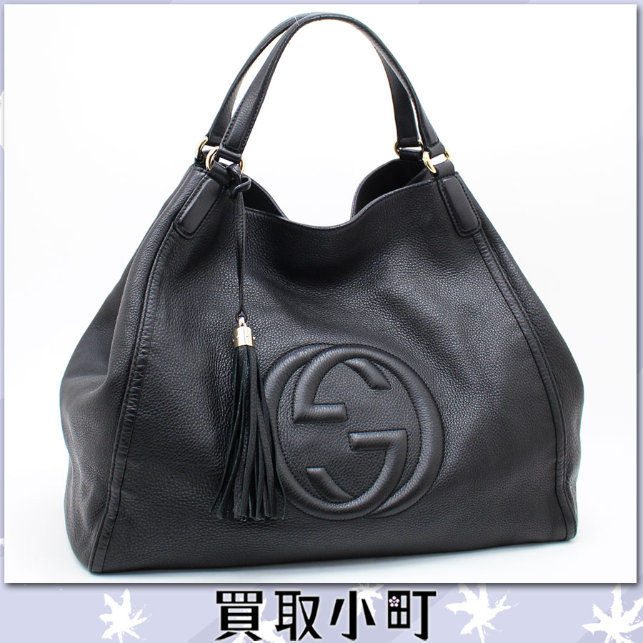 kaitorikomachi rakuten global market gucci soho shoulder bag black leather large tassel charm. Black Bedroom Furniture Sets. Home Design Ideas