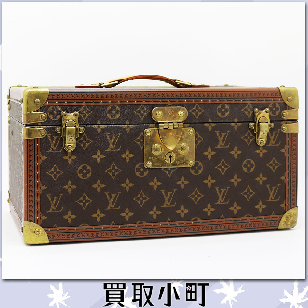 Trunk make box makeup box interior Louis Vuitton LV CASE WITH MIRROR Toiletry Case Monogram %OFF belonging to Louis Vuitton M21822 ボワット ブテイユモノグラムハードケースビューティーケースミラー
