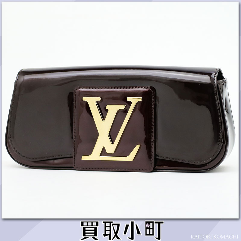 louis vuitton clutch bag. louis vuitton m93728 pochette ソービーヴェルニアマラント lv logo buckle clutch bag evening patent