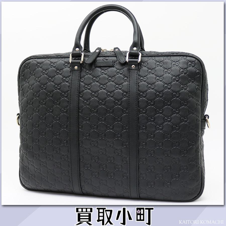 グッチグッチッシマレザーブリーフケースブラック GG emboss calfskin zip top double steering wheel business bag dispatch case signature men PVC 201480 BNX1G 1000 GG Guccissima Leather Briefcase Business Bag
