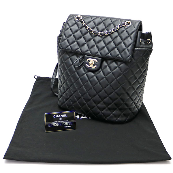 453d2d231262 KAITORIKOMACHI: Chanel matelasse Urban spirit backpack large black ...