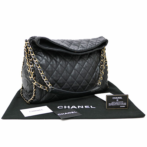 09f888d57d46 Chanel chain me quilting Ho baud bag black calfskin chain shoulder bag  matelasse here mark stitch chain around A50493  14 CC LOGO CHAIN HOBOBAG