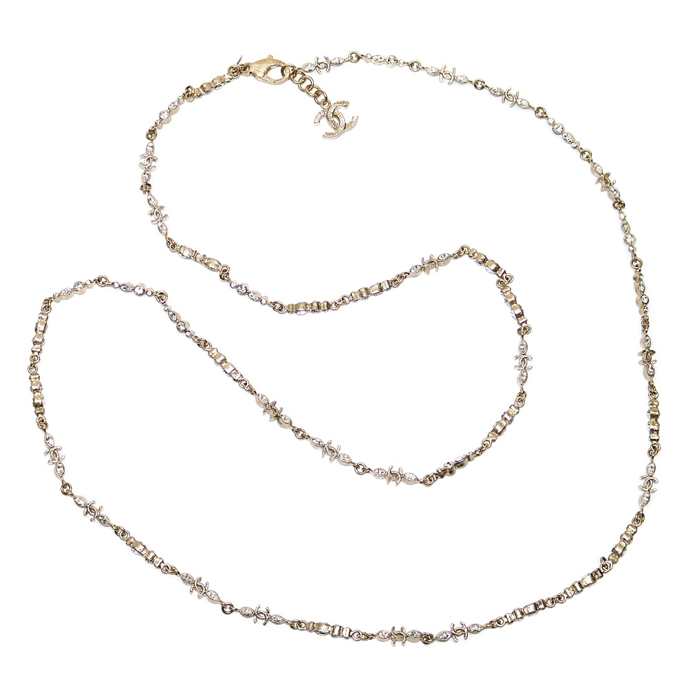 Chanel here mark Storace long necklace costume jewelry CC logo accessories rhinestone A63135 B11A CC Logo Costume Long Necklace  sc 1 st  Rakuten & KAITORIKOMACHI   Rakuten Global Market: Chanel here mark Storace ...