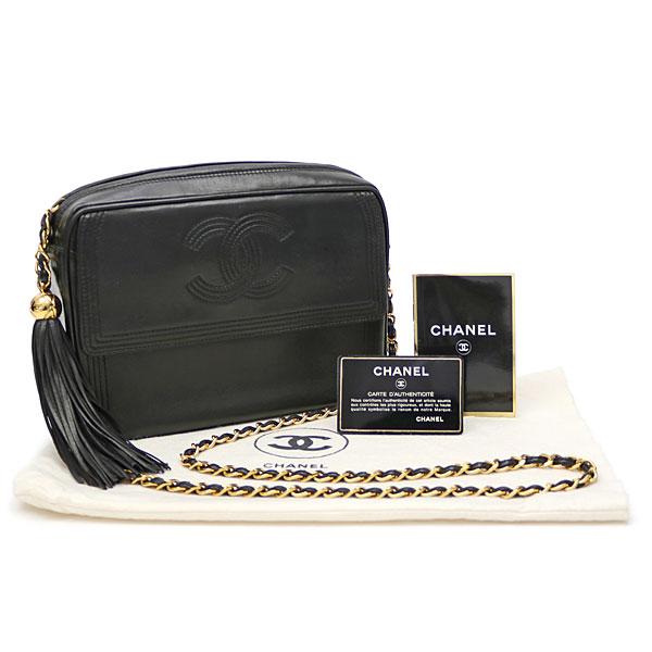 4e8fd6cb27bb Chanel here mark stitch tassel charm chain shoulder bag black lambskin  matelasse fringe classical music vintage A04629 #03 CLASSIC TASSEL CHAIN  SHOULDER