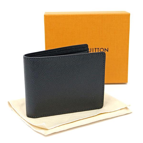 f984d46b7b10 ... Louis Vuitton M30531 ポルトフォイユミュルティプルタイガノワールカーフレザー folio wallet billfold  men wallet card case