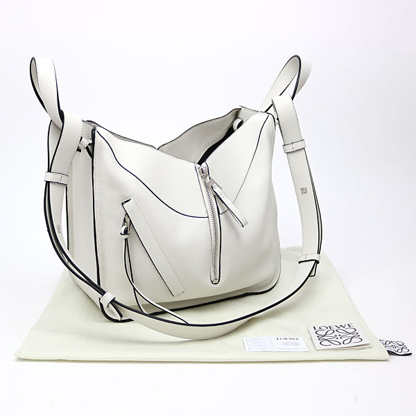 926238a0d ... Take Loewe hammock Small bag white calfskin 2WAY shoulder bag slant; handbag  logogriph emboss 387.30 ...