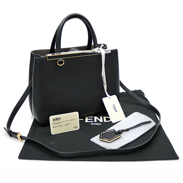 6e4b0adbc965 Take Fendi petit toe Joule black leather handbag 2WAY shoulder bag tote bag  slant  2 joules 8BH253 3WL F06M1 PETITE 2JOURS BLACK LEATHER TOTE BAG