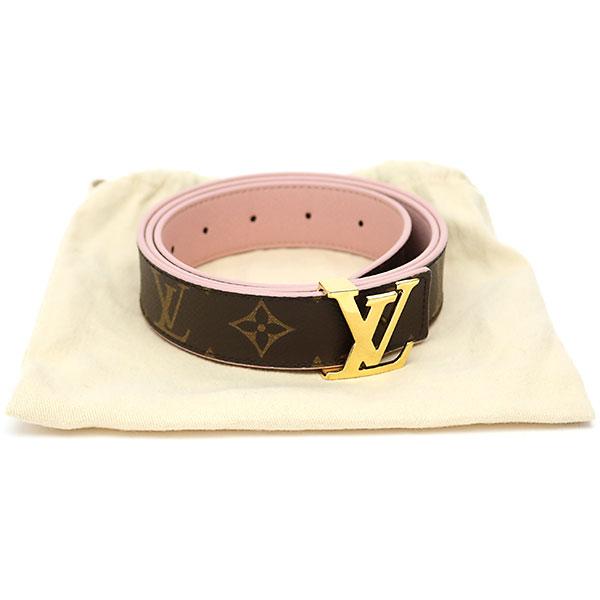 945950c646e5 Louis Vuitton M9052U sun Tulle initial monogram reversible 30MM nude Lady s  belt pink leather 90cm Saint-Cheol LV Initiales Belt