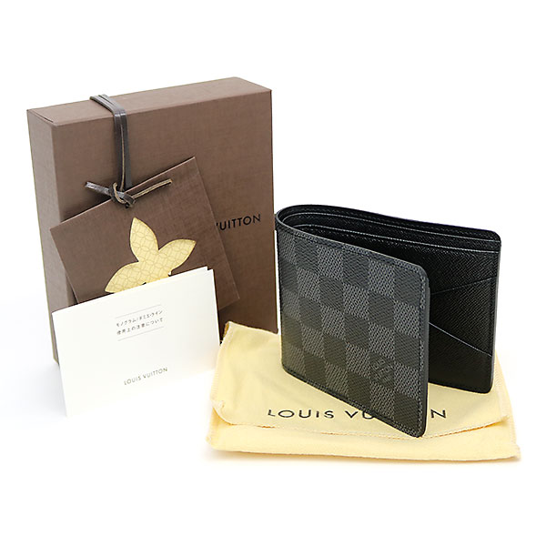 43e83a3b5bc ... Louis Vuitton N62663 ポルトフォイユミュルティプルダミエグラフィット folio wallet billfold men  wallet card case black