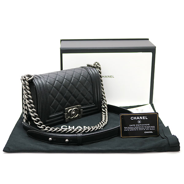 9bb43c0edbda Chanel boy Chanel Small handbag black caviar skin flap bag chain shoulder  bag chain bag quilting A67085  25 BOY CHANEL FLAP BAG