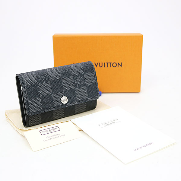 6fde8cd24e74 Louis Vuitton N62662 ミュルティクレ 6 ダミエグラフィットキーケース six key ring key ring LV 6  KEY HOLDER DAMIER GRAPHITE