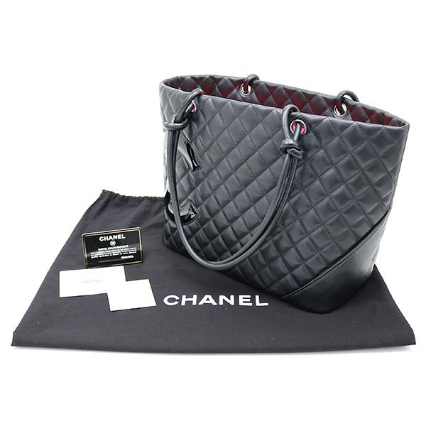Chanel Cambon line large tote bag black enamel logo CC mark calfskin  shopping Thoth signature here mark leather black A25169 Y03880  14 CAMBO 60620bba1da54