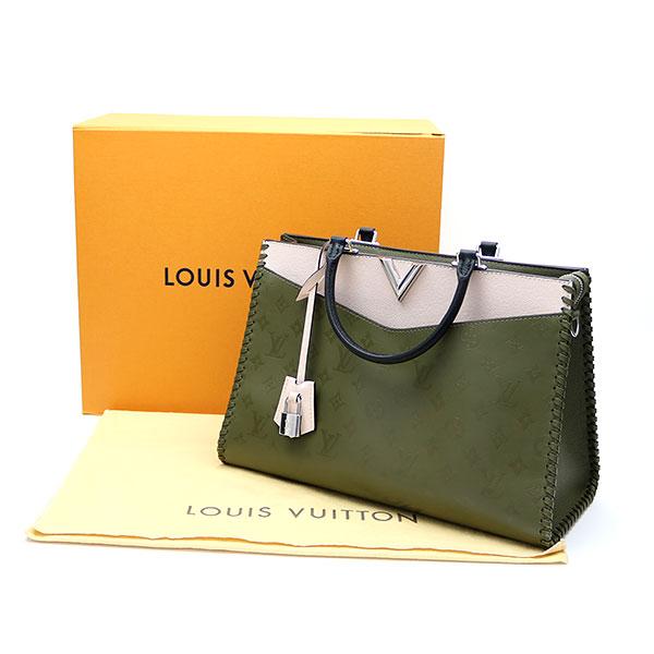 8b3de167a0f5 Louis Vuitton M52150 ヴェリージップドトートモノグラムレザーカーキファンゴ 2WAY shoulder bag handbag tote  bag LV Very Zipped Tote Khaki