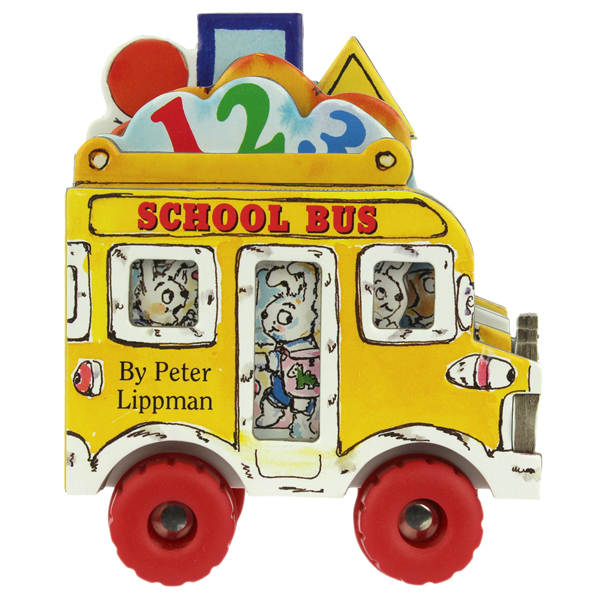 MINI WHEELS セールSALE%OFF 特価 BOOK SCHOOL BUS by ミニウィールブック 英語絵本 Peter 幼児本 Lippman スクールバス