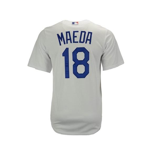 MLB メジャーリーグ ベースボール【 MLB メンズ レプリカ ジャージ / ロサンゼルス・ドジャース前田健太選手 / グレー×ブルー 】
