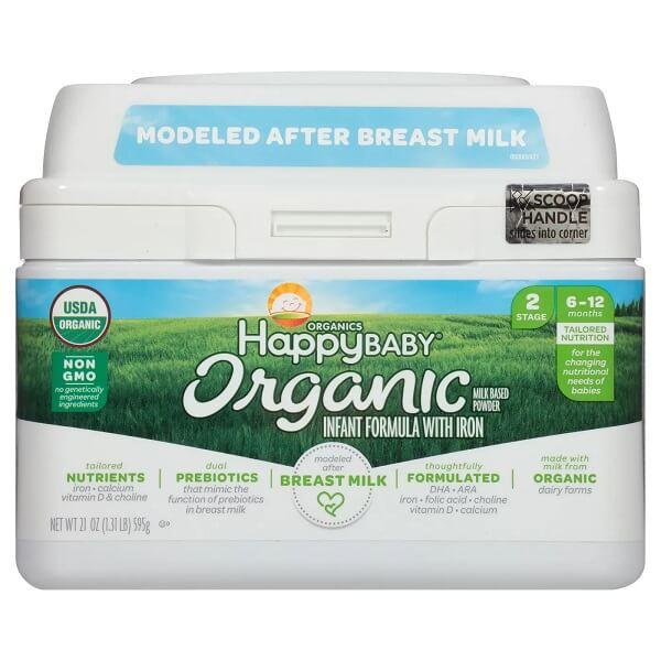 オーガニック 21oz Happy インファント 595g ハッピーベイビー 粉ミルク 鉄分 フォーミュラ 6か月から1歳 Baby