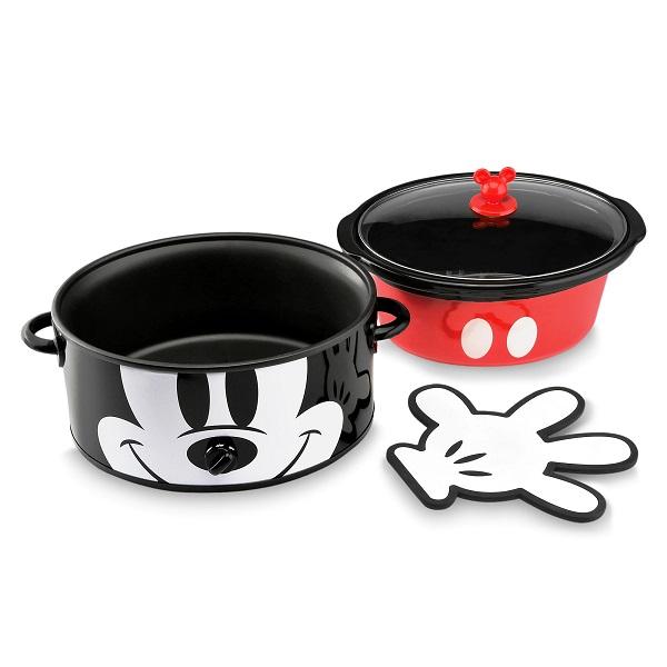 Disney【 創立90周年記念 スロークッカー 6クウォート 約5.7L / ディズニー ミッキーマウス / ブラック × レッド 】