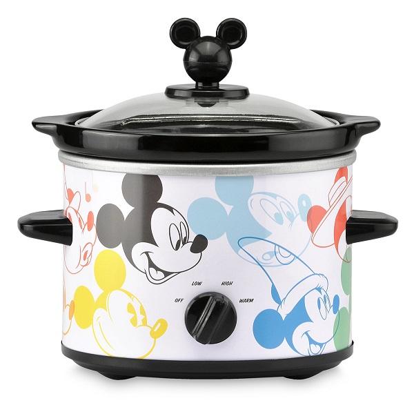 Disney【 創立90周年記念 スロークッカー 2 クウォート 約1.9 L / ディズニー ミッキーマウス / ホワイト × マルチカラー】