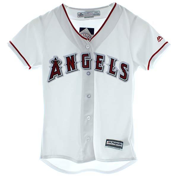 エンゼルス ユニフォーム【 Los Angeles Angels of Anaheim ロサンゼルス・エンゼルス・オブ・アナハイム / ホワイト/レディース】