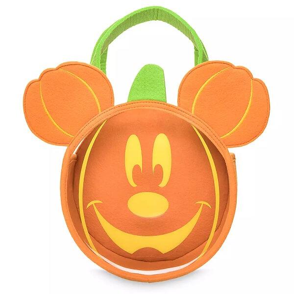 Disney 【 ディズニー ハロウィン / 顔が光る ミッキーマウス TRICK OR TREAT バッグ 】