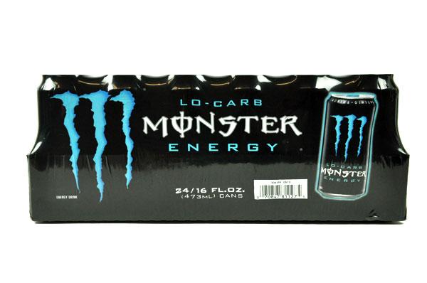 MONSTER【モンスター エナジードリンク ローカロリー青 473ml×24本】Monster Energy Lo-Carb 24/16FL OZ
