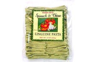 トレーダー ジョーズ リングイーニ パスタ ほうれん草 Trader Joe's トレーダージョーズ リングイーニパスタ 8oz Pasta and チャイブ 至高 Chive 227g スピナッチ Spinach Linguine 返品不可