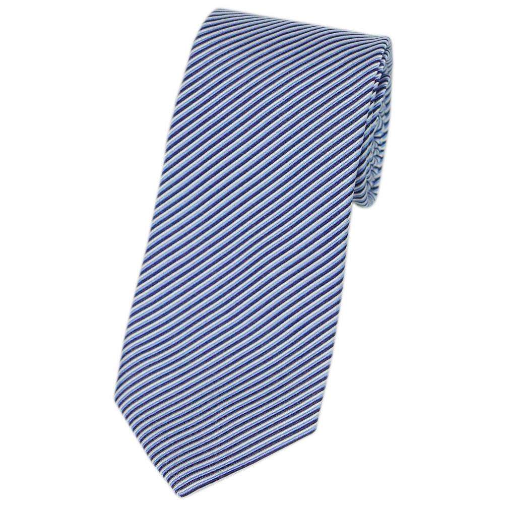 アルマーニ ネクタイ 360054 8P868 09532 メンズ ジョルジオ アルマーニ ジャガード デザイン ストライプ シルク/コットン スカイブルー/ネイビー 31202 あす楽対応