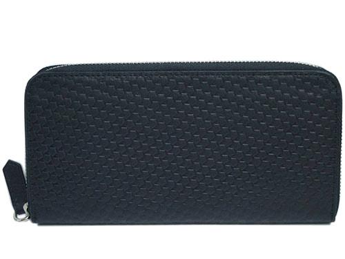 ゼニア アウトレット Z Zegna ジー・ゼニア メンズ ラウンドファスナー長財布 デザイン バイカラー ブラック/カーキ 17501