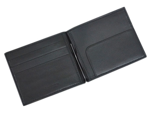Bottega Veneta wallet BOTTEGA VENETA men's two bi-fold money clip wallet intrecciato nappa Nero 390877-V 001N-1000 outlet 02P12Oct15