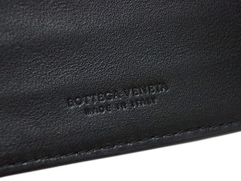 Bottega Veneta wallet BOTTEGA VENETA men's two bi-fold money clip wallet intrecciato nappa Nero 390877-V 001N-1000 outlet 02P12Oct15