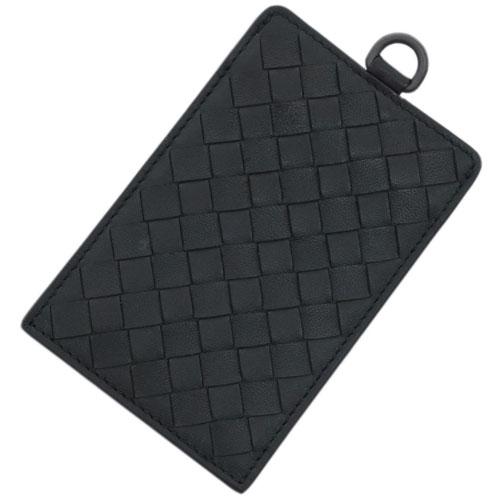 ボッテガヴェネタ カードケース 415855-1000 BOTTEGA VENETA ボッテガ カードホルダー パスケース イントレッチャート ネロ ブラック