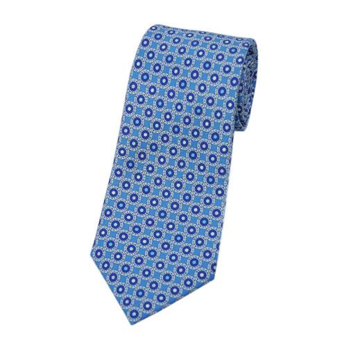 ブルガリ ネクタイ 241468 BVLGARI メンズ プリント デザインブルガリブルガリ ライトブルー/ブルー/マルチカラー 紙袋付き