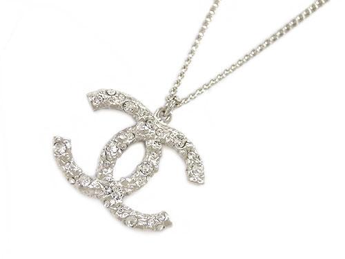 Kaitsukedoh rakuten global market chanel necklace chanel chanel necklace chanel accessories pendant big coco cc clia lines tone silver 2 stage control chain a6488702p12oct14 aloadofball Choice Image