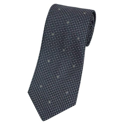 シャネル ネクタイ CHANEL メンズ ジャガード デザイン ミニCC グレー/ブラック/ベージュ シルク100% 30104