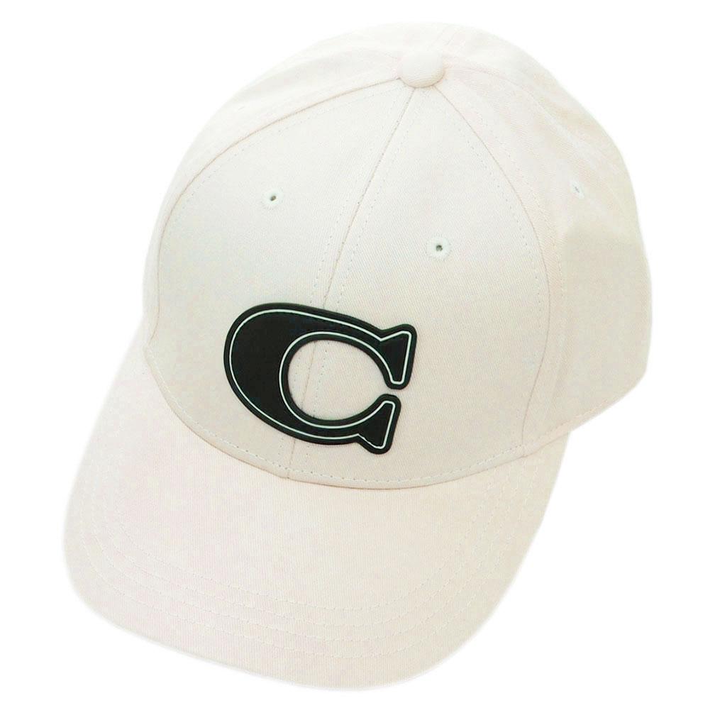 初売りポイント5倍以上! コーチ 帽子 F43038-CHK COACH キャップ ヴァーシティー C チョーク アウトレット キャッシュレスで5%還元!【期間:2020/1/1~1/5 23:59迄】