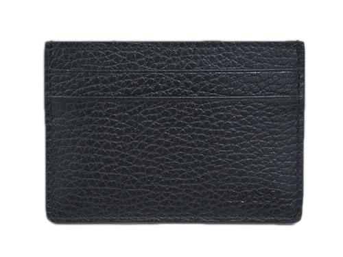 グッチ カードケース 262837-1000 GUCCI シンプル名刺 名刺入れ GUCCIロゴ 型押しカーフ ブラック アウトレット